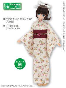 Azone Pureneemo PNM Yukata Set Love of the wild rose White Pullip Momoko Doll