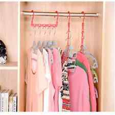 Multi-Function Space Saver Wonder Magic Clothes Hanger Closet Organizer Hook SE