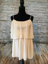 Forever 21 Contemporary Juniors Off White Sheer Summer Dress. Size: Extra Small