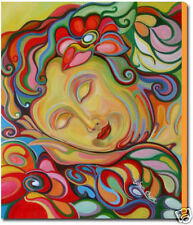 FEMALE BUDDHA PAINTING FINE ART GICLEE PRINT ON CANVAS