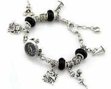 Watch Style Charm Bracelet Fit European Bead 20cm Free Ship WN020