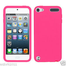 APPLE iPod Touch 5 SOFT SILICONE SKIN RUBBER GEL COVER CASE ACCESSORY BABY PINK