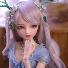 Full Set BJD Doll 1/3 Ball Jointed Pretty Girl With Face Makeup Eyes Wig Clothes