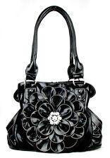 Black Clutch Flower Rhinestone Fashion Handbag
