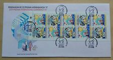 1997 Malaysia PPSEAWA Conference Booklet 10v Stamps on PSM FDC (KL Cachet)