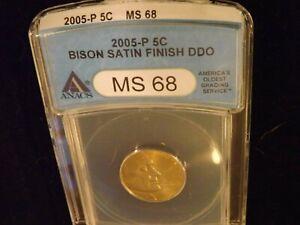 2005-P      5C            Bison       ANACS   MS 68