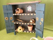 """Dollhouse 8"""" wooden garden shed"""