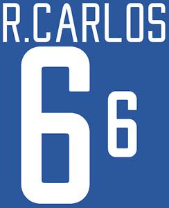 Brazil Roberto Carlos Nameset Shirt Soccer Number Letter Heat Print Football A