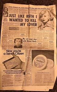 RUTH ELLIS DAUGHTER 1975 NEWSPAPER ARTICLE