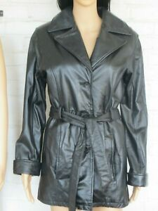 Vintage Black Leather Jacket  Wilsons Sz S thinsulate zip out liner belt Womens