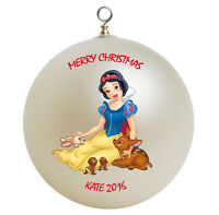 Personalized Princess Snow White Christmas Ornament