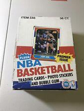 1986 Fleer Basketball Empty Wax Box Very Nice Condition