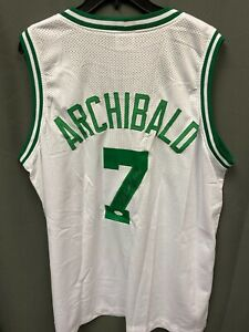 Nate Tiny Archibald #7 Signed Celtics Jersey Autographed AUTO JSA COA Sz XL