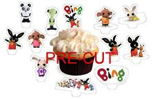 24 bing bunny wafer paper stand up cup cake toppers PRE-CUT