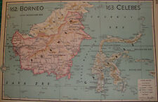 Old map Borneo & Celebes Indonesia 1939 kaart landkaart karte java sea Indonesië