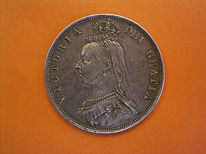 1888 Queen Victoria Jubilee Coinage Milled Silver Half Crown