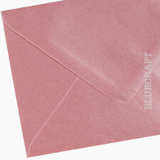 100 x C6 Shell Pink Pearlescent Envelopes 114 x 162mm - 100gsm