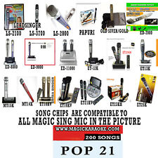 MAGIC SING MIC POP SONG CHIP POP 21 200 SONGS ALSO WORKS WITH 2019 ET23KPRO