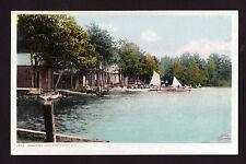 c1908 boats Massabesic Lake Manchester New Hampshire postcard