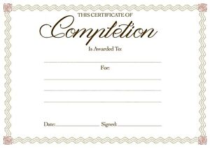 12 x Blank Award Certificates High Quality A4 Card Certificate of Completion