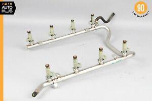 00-06 Mercedes R230 SL500 CLK430 Fuel Injector Rail W/ Injectors 1130700095 OEM