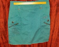 Turquoise embroidered mini skirt by BCBGirls, size 2