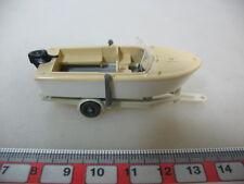 H381-0,5# WIKING H0 Anhänger mit Motorboot, 95, NEUW