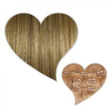 Clip-In-Extensions 90 Gramm 40 cm aschblond #18 Echthaar Haarverlängerung Clips