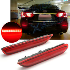 Red Lens LED w/ Dynamic Turn Signal Brake Light Lamp For Infiniti Q50 Q60 Nissan