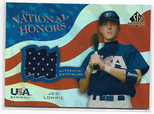 Jed Lowrie 2004 Upper Deck SP National Honors Game Jersey Rookie Card #nh-jl qty