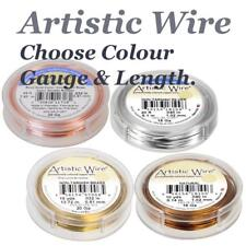 Beadalon Artistic Wire Jewellery Craft Choose Colour & Gauge, Silver, Copper....