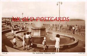 IOM - Isle of Man, DOUGLAS, The Fountains, Real Photo by Raphael Tuck