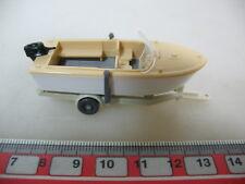 H382-0,5# WIKING H0 Anhänger mit Motorboot, 95, NEUW