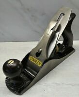 Vtg. Stanley Bailey No. 4 Smooth Bottom Bench Plane USA woodworking hand tool