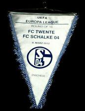 VOETBAL PENNANT WIMPEL FANION FC TWENTE ENSCHEDE V FC SCHALKE 04 UEFA CUP 2012