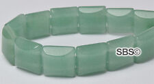 Green Aventurine 10x10mm 2-Hole Square Stone Beads (approx. 16 inch strand)
