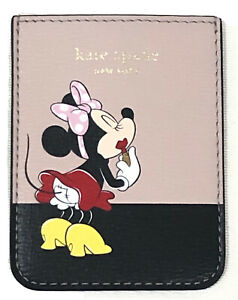 Kate spade X Disney minnie mouse leather pocket Card Holder 4 Cell phone New+Box