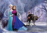 368x254cm Gigante Feature Papel Pintado Mural Niña Room Disney Frozen Elsa Azul