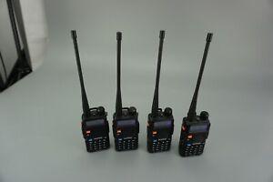 Four Baofeng Uv-5r Walkie Talkie Dual Band UHF VHF Ham FM Portable Two Way Radio