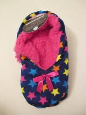 Skidders Blue Star Plush Sherpa Non Skid Slipper Socks~S-M Shoe Size 5-7