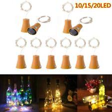 Solar String Light Cork Wine Bottle Fairy Light With Copper Wire 10/20LED Lamp