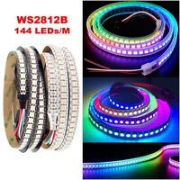 0.5M 1M WS2812B LED Strip 5050 RGB 144LEDs/m ws2812 IC Individual Addressable 5V