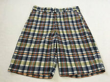 Abercrombie & Fitch Mens 30 Classic Plaid Shorts Blue Red Yellow Green