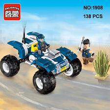 Enlighten 1908 Police Patrol Car Vehicle DIY Building Block Toys blocks toys