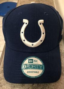 NFL Colts New Era 9Forty Hat Blue w/Horseshoe Adult Adj