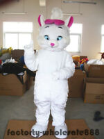 Aristocats Marie Mascot Cartoon White Cats Mascot Costume Bithday Party Costumes