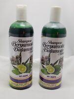 2X Shampoo de Bergamota y Batamote Aukar, 500 ml /17.63 FlOz. Shampoo Bergamot