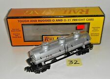 MINT 30-7319 MTH RAIL KING O / 027 PENNSYLVANIA PRR 3 DOME SILVER TANKER 32