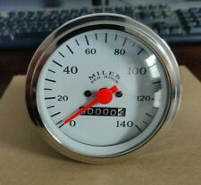 Veethree 10740 Speedometer 3 38 White For In Dash Mounting Mechanical
