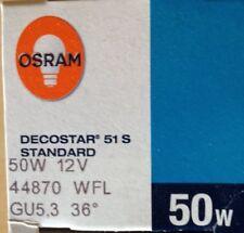 Osram 44870 WFL Decostar 51 S Lampe Halogène 50 W 12 V gu5, 3 36 ° - 38 ° UV stop NEUF